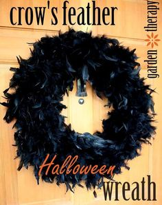 How to Make a Crow Feather Halloween Wreath
