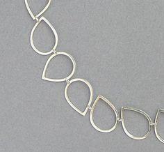 Silver Drops Necklace  Handmade Chain of by DaliaShamirJewelry, $112.00