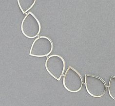 Silver Drops Necklace  Handmade Chain of by DaliaShamirJewelry, $112.00