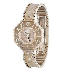 BUCCELLATI Lady's White Gold Oktachron Bracelet Watch .Italy 1980s