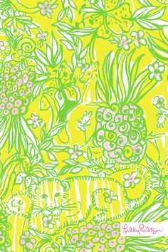 Lilly Pulitzer Crazy Cat House Wallpaper for iPhone