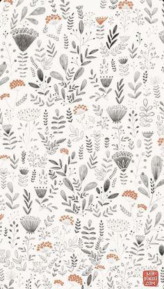 Floral Pattern Illustration - Trend Topic For You 2020 Motifs Textiles, Textile Patterns, Flower Patterns, Print Patterns, Flower Pattern Design, L Wallpaper, Pattern Wallpaper, Surface Pattern Design, Pattern Art