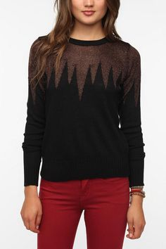 Lucca Couture Metallic Icicle Sweater  #UrbanOutfitters