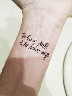 Peter Pan J.M. Barrie Quote To have faith is by PopGeekTattoos, $5.00