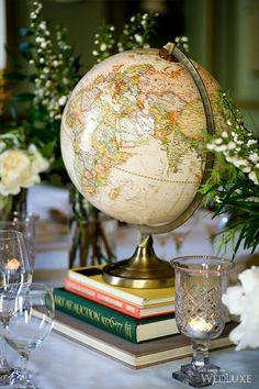 Wedding Theme Ideas 20 Awesome Travel Themed Wedding Ideas - Are you having a travel themed wedding, if so read on. We have pulled together our favourite travel themed wedding ideas, from save the dates, to table plans, to wedding Wedding Table Centerpieces, Flower Centerpieces, Wedding Decorations, Travel Centerpieces, Aviation Wedding, Niklas, Travel Party, Travel Themes, Love Photography
