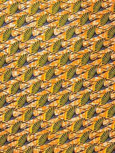 African Fabric Dutch Real Wax Block Print by Africanpremier, $34.99