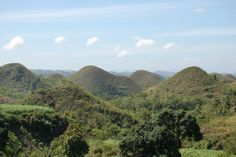 """San Carlos City, Negros Occidental own version of the world famous Chocolate Hills. Locals call it """"Prosperidad Hills"""". Chocolate Hills, Famous Chocolate, World Famous, Philippines, Places To Go, River, City, Outdoor, Beauty"""
