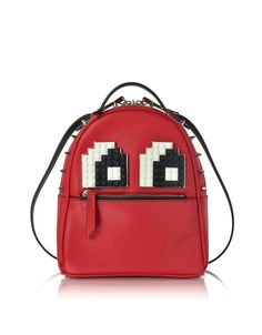 Les Petits Joueurs Women's Mcmkeyv46red Red Leather Backpack