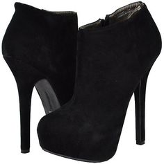 Doll House Hustler Black Faux Suede Women Ankle Boots