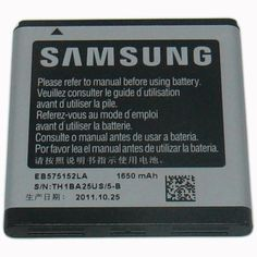 Best seller Samsung Original OEM 1650 mAh Spare Replacement Li-Ion Battery for Samsung Galaxy S 4G/Vibrant 4G/Captivate Glide - Non-Retail Packaging - Silver