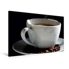 Kaffeezeit (Premium Textil-Leinwand, Bild auf Keilrahmen) - CALVENDO