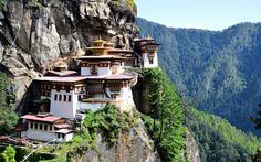 Tiger's Nest Monastery, Paro Valley, Bhutan This 17th century temple sits on the edge of a cliff 3,000 feet above the Paro valley. The holy site was built to protect the cave in which ...