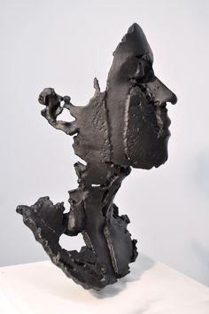 "[Sophie Kahn] ""L:Degrade.""  Cast bronze, patina."