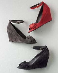 i'm crushing on these shoes...a girl can dream. ;) :: Valentina Suede Wedge Shoes
