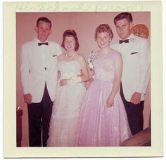 Vintage high school prom 1957 in Phoenix, Arizona.