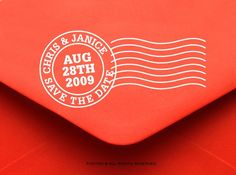 save the date stamp!! so many DIY possibilities with this
