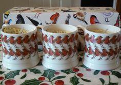 Emma Bridgewater Christmas Robin Mini Mugs