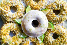 Coconut lime donuts with adaptogens. #DitchtheRecipe