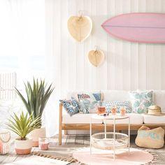 Vintage Solid Teak and Cord Garden Sofa Cayenne Teen Furniture, Hallway Furniture, Small Furniture, Dining Room Furniture, Living Room Chairs, Furniture Decor, Deco Miami, Sun Lounger Cushions, Boho Home