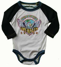 Too cute rock n roll baby clothes rowdy sprouts van halen onesie baby boy swag pinterest