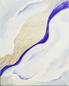 Shades of Blue. Abstract art.