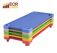 The ECR4Kids stackable kiddie cots are the perfect place for your children to take a nap. Whether at school, in a daycare or at home, the stackable kiddie cot is great for rest time and inter-stacks to save space. Available in a variety of fun attractive colors!