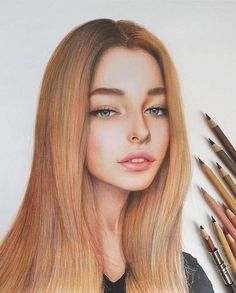 —colored pencil drawings by marat utamuratov Cool Art Drawings, Realistic Drawings, Colorful Drawings, Pencil Drawings, Art Sketches, Drawing Artist, Painting & Drawing, Girl Sketch, Color Pencil Art