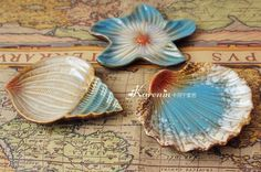 Ceramic dish/fruit plate/dessert plate - sea series 09 from House Beauty