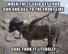 Why do you have to be in our unit, Carl?