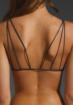 MIKOH SWIMWEAR Kona String Racerback Top in Storm - Bikinis - Super cute!