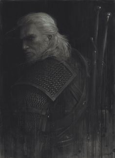"Witcher/""Geralt Study"" - illustration by Sam Spratt"
