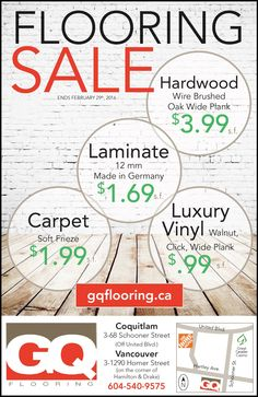 FLOORING SALE  Drop by our showroom to take advantage of our February Sale Flooring Sale, Wide Plank, Showroom, February, The Unit, Drop, Events, Fashion Showroom
