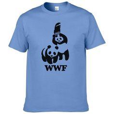 ef01f2cf59 WEWANLD WWF Wrestling Panda Comedy Short Sleeve Cool Camiseta T Shirt  Meneticdress. ComediaLuchaCamisa De ...