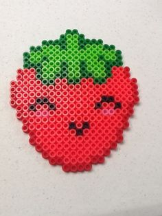 Kawaii Berry perler beads by Perler Bead Designs, Easy Perler Bead Patterns, Melty Bead Patterns, Perler Bead Templates, Hama Beads Design, Diy Perler Beads, Perler Bead Art, Beading Patterns, Hama Beads Kawaii