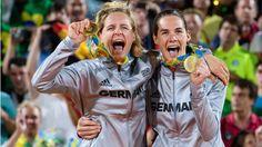 Die zwölfte Gold-Medaille für das deutsche Team: Die Beachvolleyballerinnen…