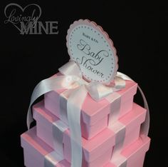 Baby Shower Centerpieces   Tiffany U0026 Co. Inspired Box   Pink And White.
