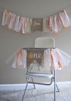 Pumpkin first birthday.Burlap and tulle banners.PInk and gold birthday.Girls f Fall birthday banners.Pumpkin first birthday.Burlap and tulle banners.PInk and gold birthday. Fall 1st Birthdays, Pumpkin 1st Birthdays, Fall Birthday Parties, Girl Birthday Themes, Baby Girl First Birthday, Halloween Birthday, Birthday Banners, Gold Birthday, October Birthday
