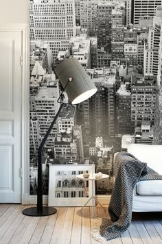 Bold grey lighting. New York Mural / NY Memories collection.
