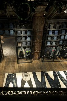 Reply The Stage, flagship store, Milan, Italy New Era Store, Denim Display, Urban Shop, Clothing Store Design, Concept Shop, Retail Concepts, Retail Store Design, Store Interiors, Boutique Interior