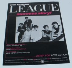 Human League Music Ad Success Article Story Full Page Advert