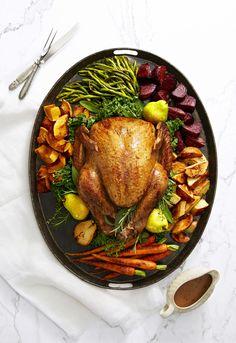 Golden Glazed Turkey With Roasted Herbed Vegetablesgoodhousemag