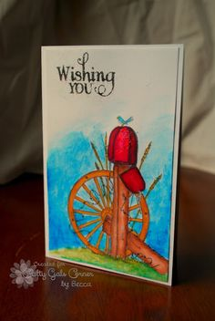 The Damsel of Distressed Cards: Watercolored Country - Crafty Gals Corner The Great Outdoors Challenge