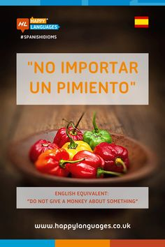 How can we use this lovely Spanish idiom? 🌶 Read more about it and write an example! 📝 👍 Spanish Idioms, Idiomatic Expressions, Learn Spanish, Language, Learning, Happy, Learning Spanish, Study Spanish, Studying