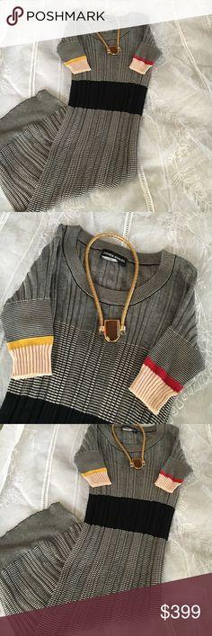 Sonia Rykiel cotton knit dress Sonia Rykiel cotton knit comfy knit dress Sonia Rykiel Dresses Midi