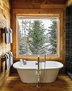 perfect cabin bathroom!