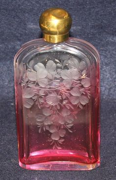 Victorian Cranberry Flask