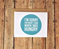 I'm sorry card  humorous card  funny I'm sorry by PrintSmitten, $4.50