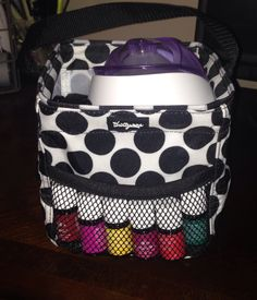 Essential Oils and diffuser in the little carry all www.mythirtyone.com/lindseygause