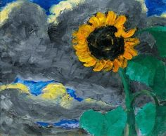 Emil Nolde, sunflower on ArtStack #emil-nolde #art