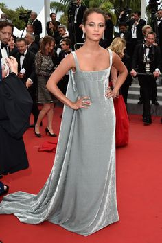 "Alicia Vikander in Valentino, ""Macbeth"" Premiere, Cannes"